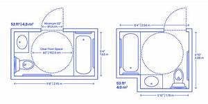 Accessible Residential Bathrooms Dimensions  U0026 Drawings