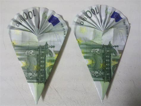 schultuete aus geldschein falten origami mit geldscheinen