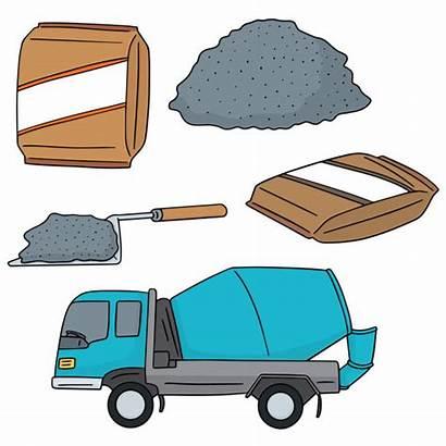 Cement Vector Concrete Illustration Cartoon Worker Construction