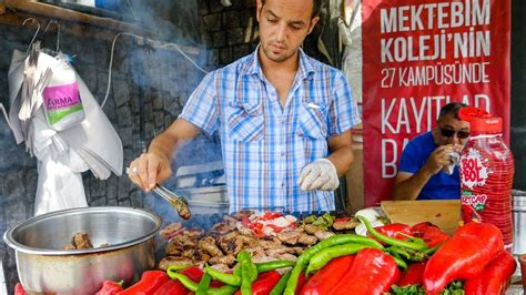 Istanbul Street Food  Delicious Turkish Kofte And Brea