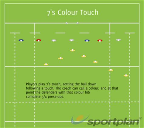 colour touch sevens rugby drills rugby sportplan