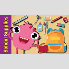 School Supplies Song  Fun Kids English Youtube