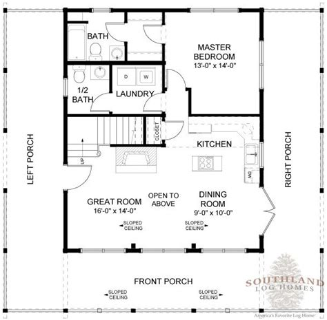 log home floor plans with basement 1 207 sf log home make stairs go down to walkout basement great simple floor plan new house