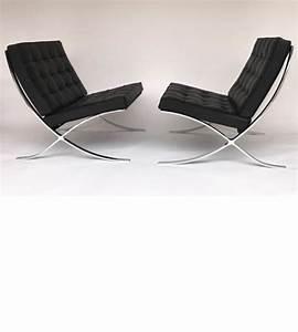 Fauteuil Mies Van Der Rohe : ludwig mies van der rohe knoll fauteuil paire de 2 catawiki ~ Melissatoandfro.com Idées de Décoration