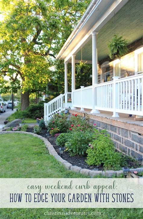 Easy Curb Appeal Garden Edging  Christinas Adventures