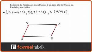 Fehlende Koordinaten Berechnen Vektoren : vektorrechnung bestimme punkt d so dass ein parallelogramm entsteht youtube ~ Themetempest.com Abrechnung