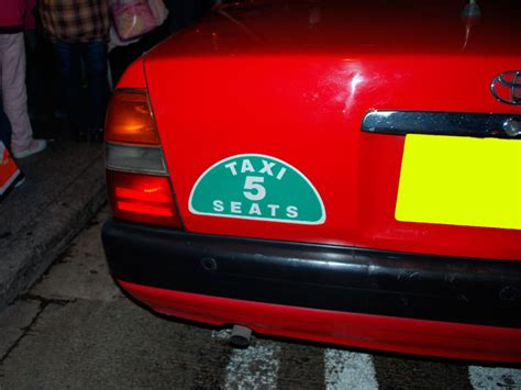hong kong taxi red green blue fares