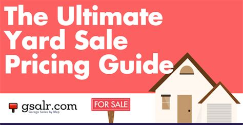 garage sale pricing the ultimate yard sale pricing guide garage sale blog