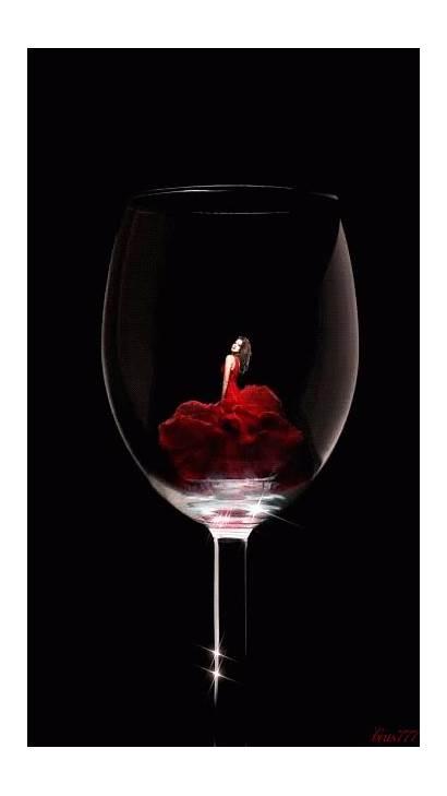 Wine Glass красиво просто Lady Gifs