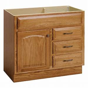 shop project source golden bathroom vanity common 36 in With kitchen cabinets lowes with golden retriever wall art