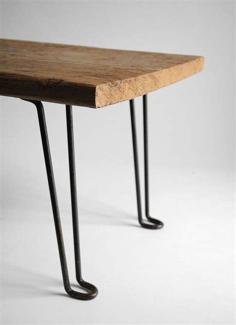 table  reclaimed wood  hairpin legs crafty