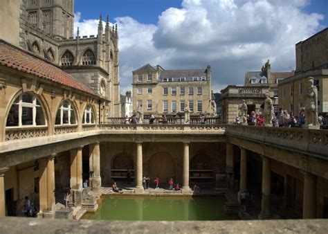 The Historical Roman Baths London England