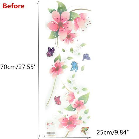 stickers mur chambre sticker mural fleur lettre amovible décoration autocollant