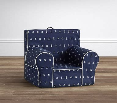 Pottery Barn Anywhere Chair Slipcover by Navy Anchor Anywhere Chair 174 Slipcover Only Pottery Barn