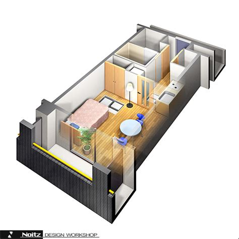 home design software マンション 間取り鳥瞰パース