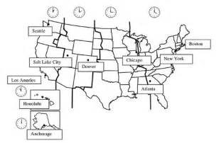 Us Time Zones United States Map