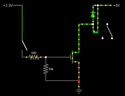 transistors      output  control   relay