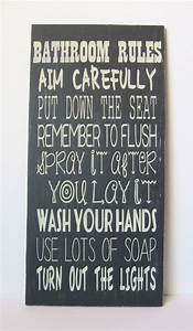 This looks like a bathroom rules sign for boys lol quotspray for Funny bathroom songs