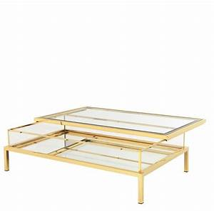 harvey rectangular gold coffee table With gold rectangle coffee table
