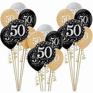 Sparkling Celebration 50th Birthday Balloon Kit   Party City