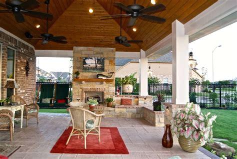 patio cover  fireplace  telfair texas custom patios