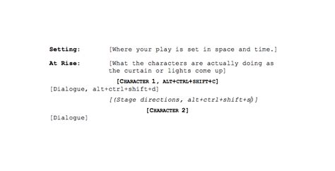 play script template how to format your script playwrights center