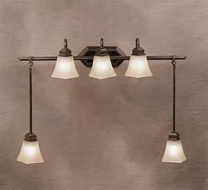 Kichler lighting 5104olz polygon five light bath for Bathroom swag lights