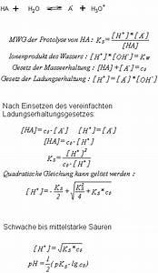 Protolysegrad Berechnen : die st rke von s uren und basen in w riger l sung steffen 39 s wissensblog ~ Themetempest.com Abrechnung