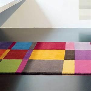Badezimmergarnitur 3 Teilig : tapis de luxe multicolore en laine par ligne pure ~ Frokenaadalensverden.com Haus und Dekorationen