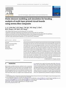 Finite Element Modeling And Simulation For Bending