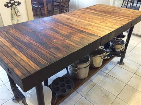 pipe kitchen island a 1915 chrysler and a kitchen island area 1526