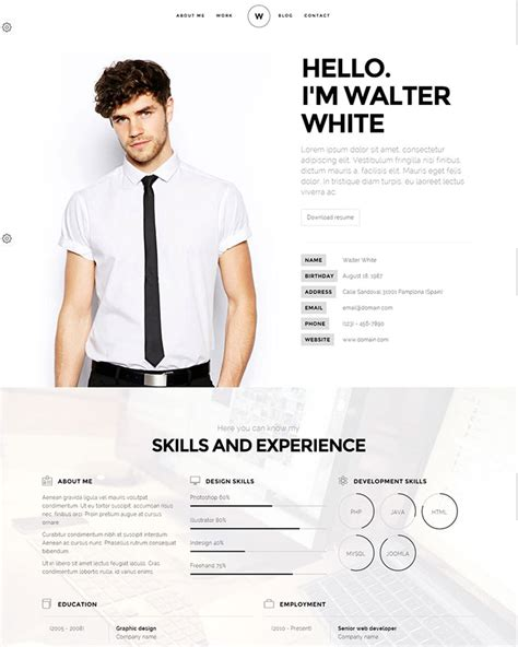 20 intriguing resume templates web graphic