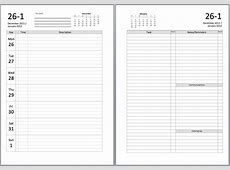 Philofaxy New A5 Filofax diary layouts