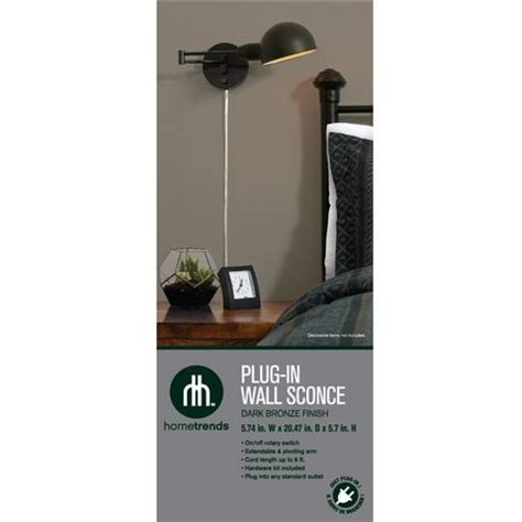 hometrends 1 light in pharmacy wall sconce with