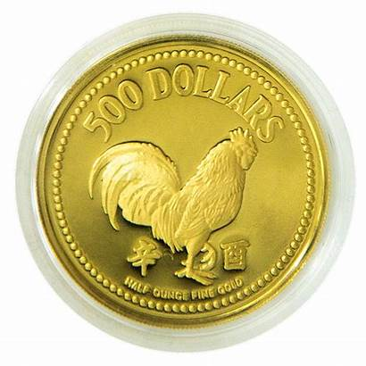 1981 Lunar Rooster Gold Coin Singapore Oz