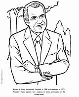 Coloring Nixon Richard Pages Facts President Presidents Printable Henry John Printables Reconciliation Patriotic Usa Activities Presidential Flag Printing Help States sketch template