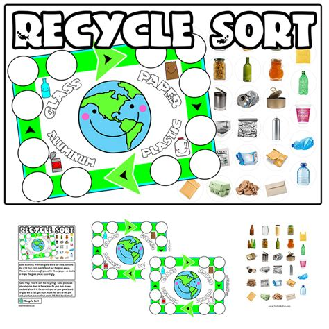 recycling lesson plans for preschool recycle sorting file folder 584