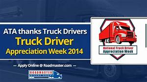 ATA Thanks Truck Drivers (VIDEO) | Truck Driver ...