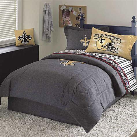 new orleans saints nfl team denim queen comforter sheet set