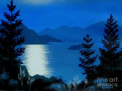 Learn how to paint the moon! April Full Moon Painting by Shasta Eone