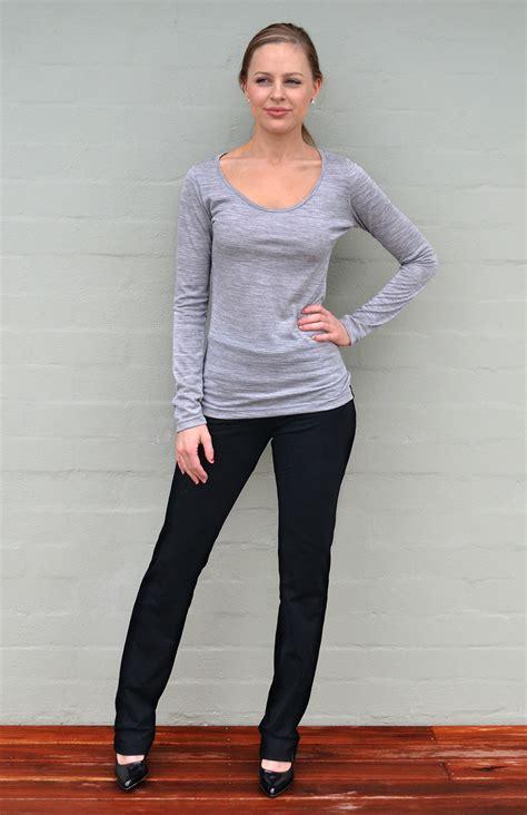 straight leg pants womens black lightweight wool