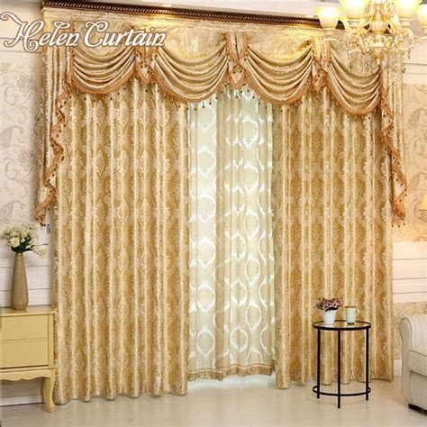 helen curtain luxury europe style curtains with valance