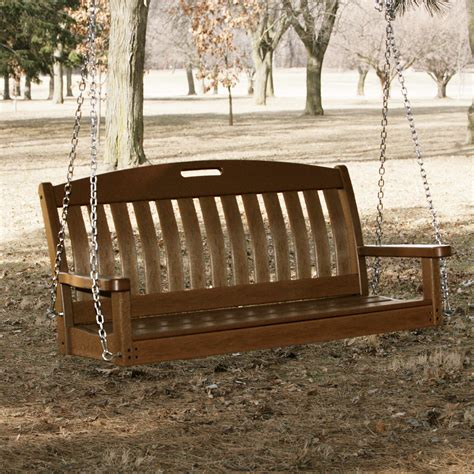 3 Ft Porch Swing by Polywood 174 Nautical 4 Ft Recycled Plastic Porch Swing