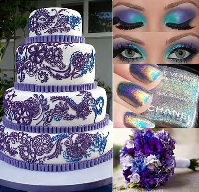 Purple Cake Inspiration Decorations Via