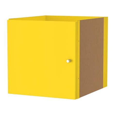 kallax einsatz mit t 252 r gelb ikea