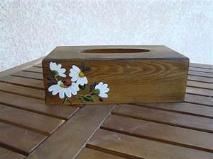 Boite Mouchoir Bois : boite a mouchoirs face 1 photo de peinture sur bois aux couleurs de mes envies ~ Teatrodelosmanantiales.com Idées de Décoration