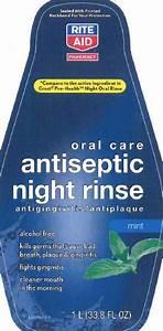 Antiseptic Night Rinse  Rite Aid  Cetylpyridinium Chloride