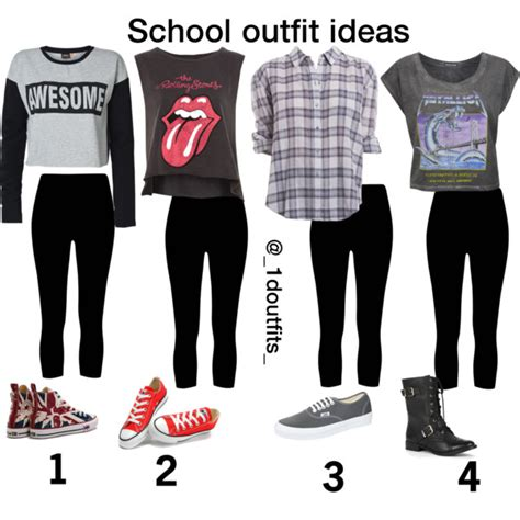 School outfit ideas- black cropped leggings for tomboy | School outfits Tomboy and School