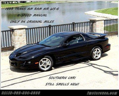 free car manuals to download 1999 pontiac trans sport head up display find used 1999 trans am ws6 ram air only 9k black ebony lthr 6spd manual like new rare in