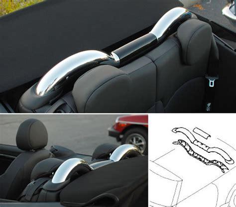 mini cooper  convertible chrome roll bar covers mini